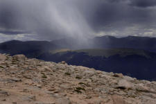 Rainstorm of Mt. Ypsilon-- Seen from the Flattop Trail